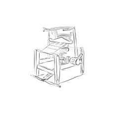 Old traditional loom vector image