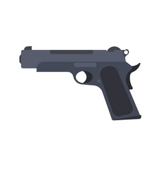 pistol gun revolver isolated handgun weapon white vector image vector image