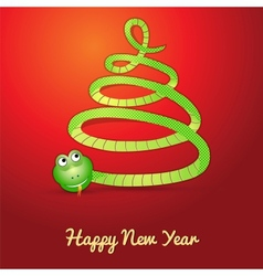 Snake in shape of a christmas tree vector image vector image
