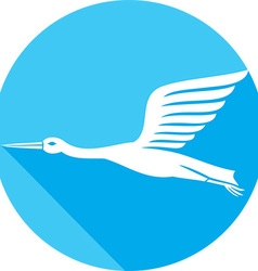 Stork Bird Icon vector image