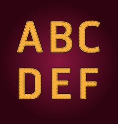 alphabet textile retro college style vector image vector image
