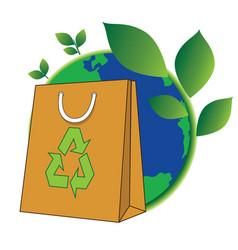 bag of green world vector image