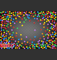 colorful multicolored confetti festive vector image vector image