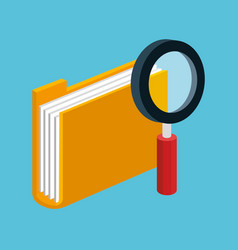 folder file document magnifier technology icons vector image