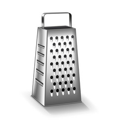 grater isolated on white vector image vector image