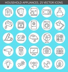 household appliances icon set vector image