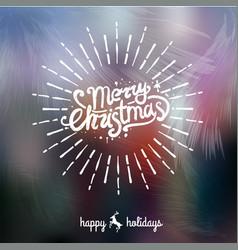 merry christmas handwritten lettering vector image vector image