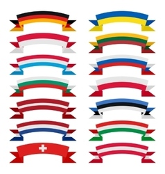 ribbons of countries vector image