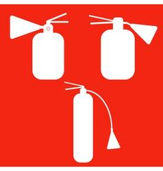 Set of Fire extinguishers isolated icons Emergenc vector image