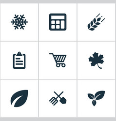 set of simple agriculture vector image vector image