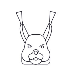 squirrel head line icon sign vector image vector image