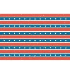 Stripes and stars background USA flag design vector image