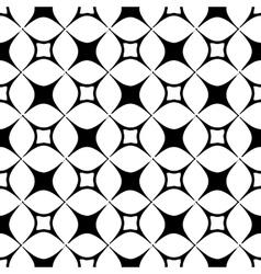 The pattern of black and white stylized squares vector image vector image