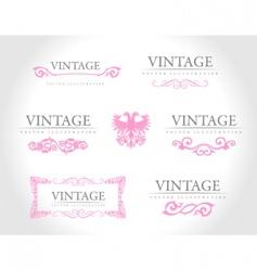 baroque vintage royal design elements vector image
