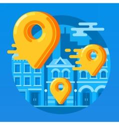City map pin vector