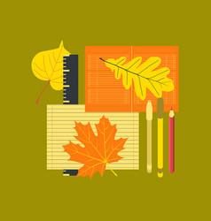 Flat icon on stylish background notebook pen vector