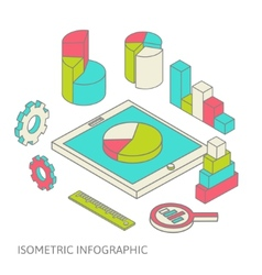 isometric business finance analytics chart graphic vector image vector image