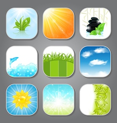 Set various backgrounds for the app icons vector image vector image
