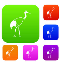 stork set collection vector image vector image