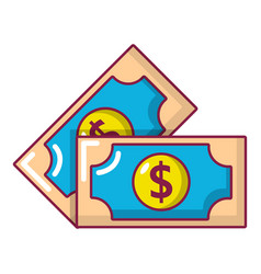 bank note icon cartoon style vector image vector image