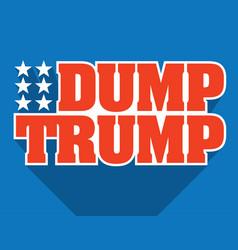 dump trump design vector image vector image