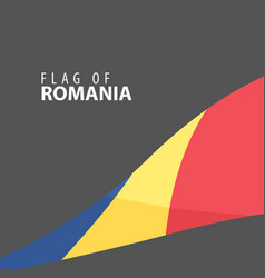 flag of romania against dark background vector image vector image