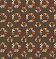 seamless retro circular ornament-02 vector image