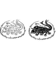 thai yantra thai tattoo vector image