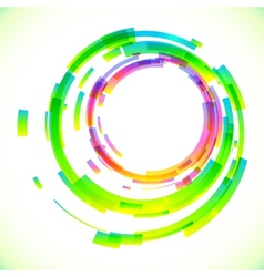 Abstract colorful circles frame vector image
