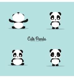 abstract cute pandas vector image