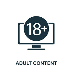 Adult content icon from banned internet vector
