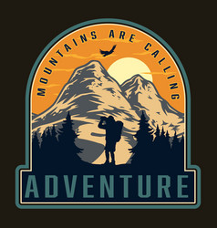 Adventure time vintage logotype vector