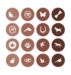 Animals pets icons universal set for web and ui vector