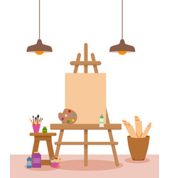 art studio interior colorful vector image