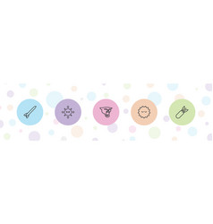 Attack icons vector