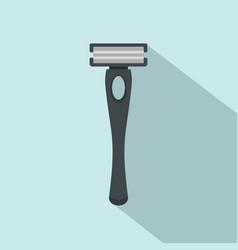 black man razor icon flat style vector image