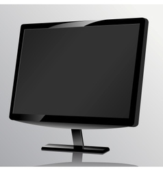 Blank computer monitor at the desk vector