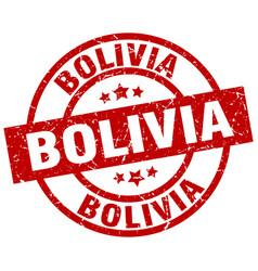Bolivia red round grunge stamp vector
