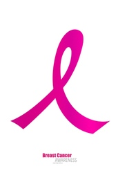 Breast cancer awareness pink ribbon healthcare and vector