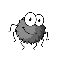 Cartoon cute gray little spider character vector image vector image