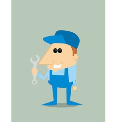 Cartoon mechanic vector image