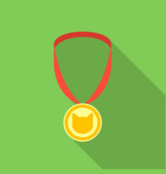 cat medal icon in flate style isolated on white vector image