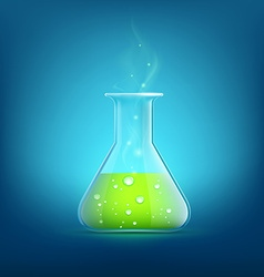 Chemical beaker Stock vector image