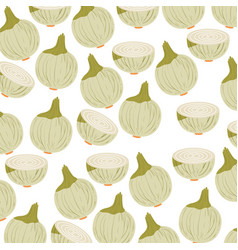 colorful background with pattern of onions vector image