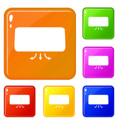 conditioner icons set color vector image