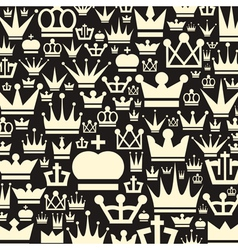 Crown a background vector image