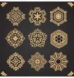Design elements graphic Thai design isolated vector image