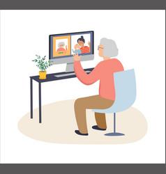 Elderly old people senior people at home vector