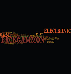 Electronic backgammon text background word cloud vector