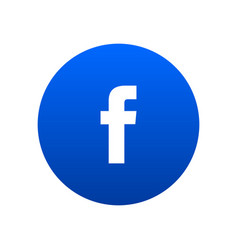 Facebook icon vector